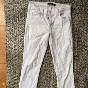 J brand classic white jeans